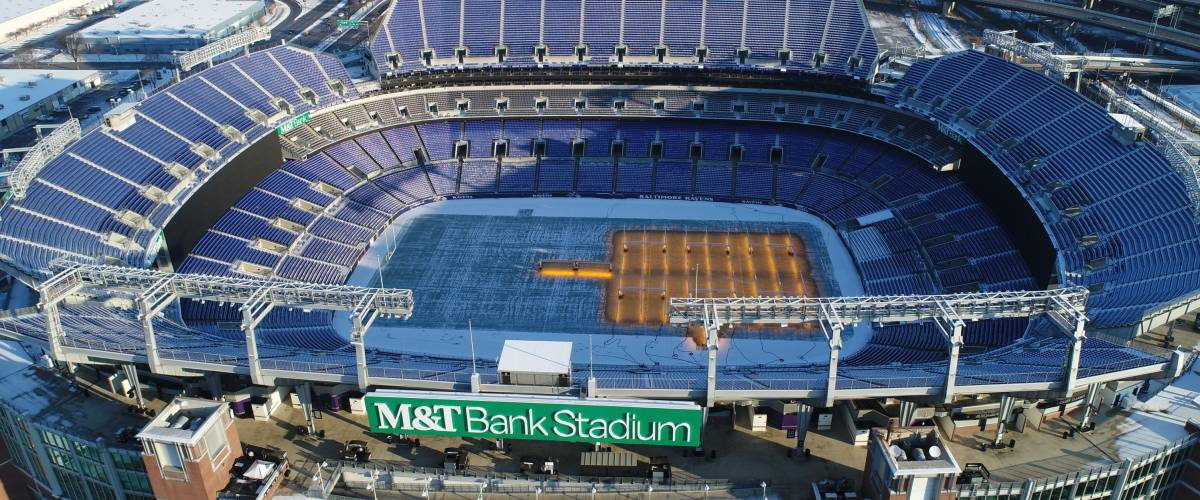 Baltimore, MD - December 16, 2017: The M&T Bank Stadium, home of the Baltimore Ravens, is a multi-purpose football stadium.