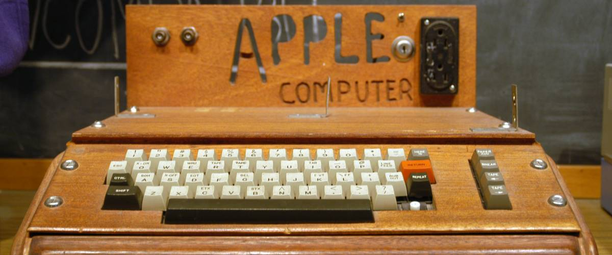 The Apple 1 computer, unveiled shortly before Ron Wayne bailed.