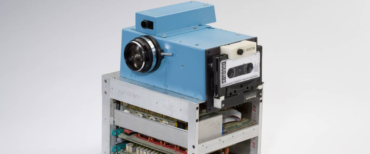 1st Digital Camera. Invented in 1973 by Steven J. Sasson. It weighed eight pounds.