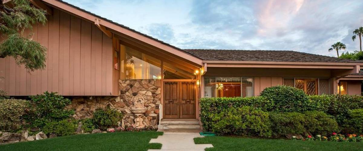 The front door on the home in Studio City, California, that was used as the 'Brady Bunch' house