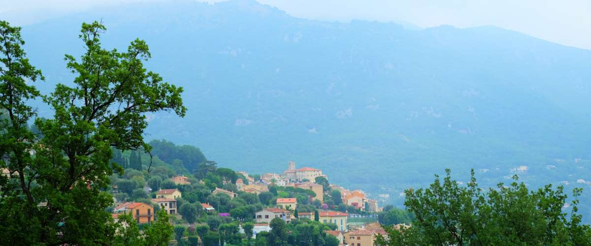 This scenic village is located just 13 miles from the beaches of Cannes