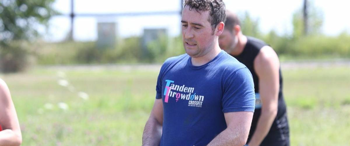 Mark Durrenberger, participating in the Chicago area Savage Race obstacle course race.