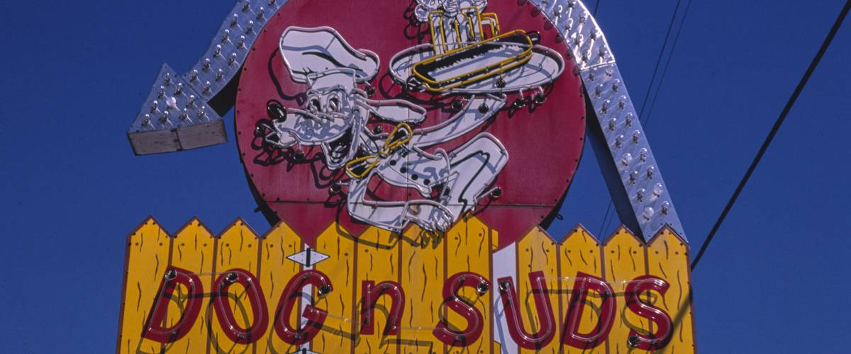 Dog n Suds sign, Route 19A, Dunedin, Florida
