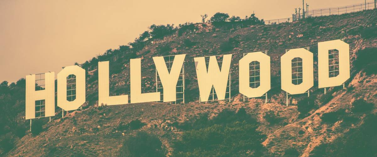 December 2014. Famous Hollywood Hills in Los Angeles Metro Area, California, United States. Hollywood Sign in Vintage Color Grading.