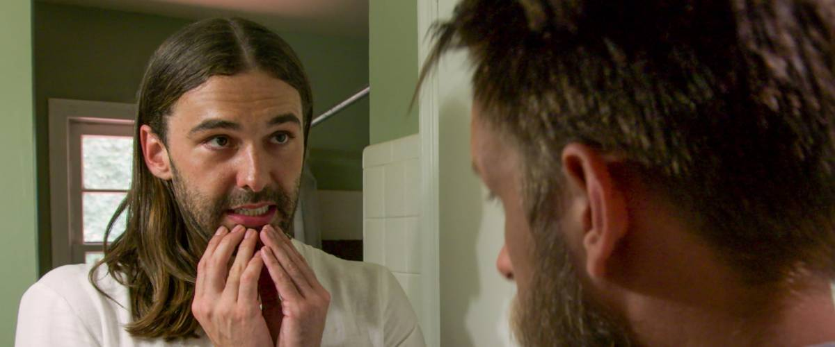 Jonathan Van Ness sizes up his next client in Queer Eye Season 2, Episode 8