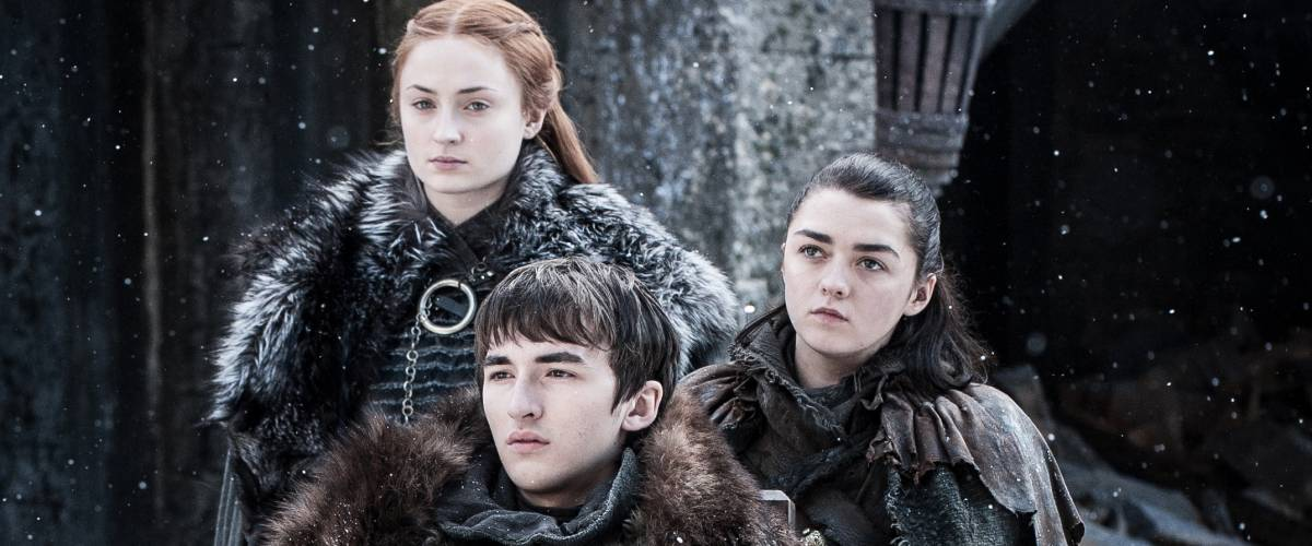 Sophie Turner, Isaac Hempstead Wright, Maisie Williams in Game of Thrones Season 7, Episode 4