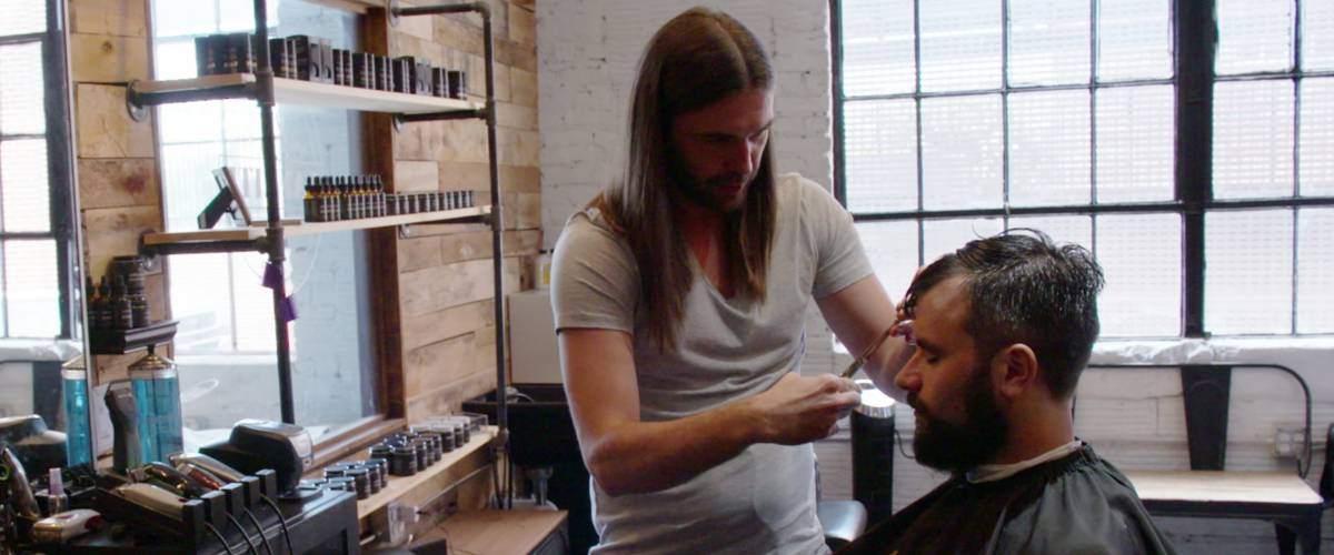 Jonathan Van Ness cuts Joe Gallois' hair in Queer Eye Season 1, Episode 7