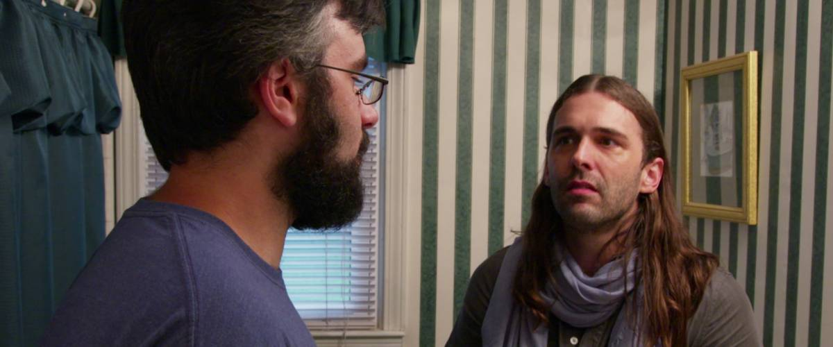Jonathan Van Ness with Joe Gallois in Queer Eye Season 1, Episode 7