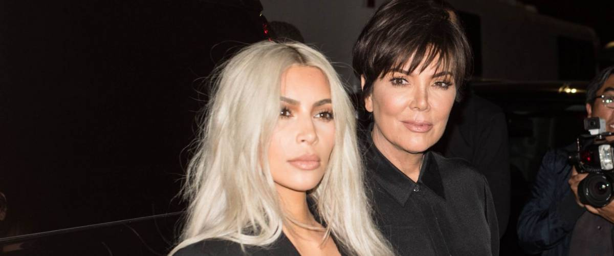 Kim Kardashian West and Kris Jenner making an entrance at the Alexander Wang SS18 Runway Show for New York Fashion Week 2017 in Brooklyn, New York on September 9, 2017.