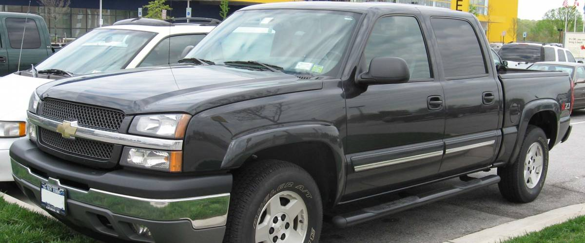 2004-2005 Chevrolet Silverado photographed in USA.