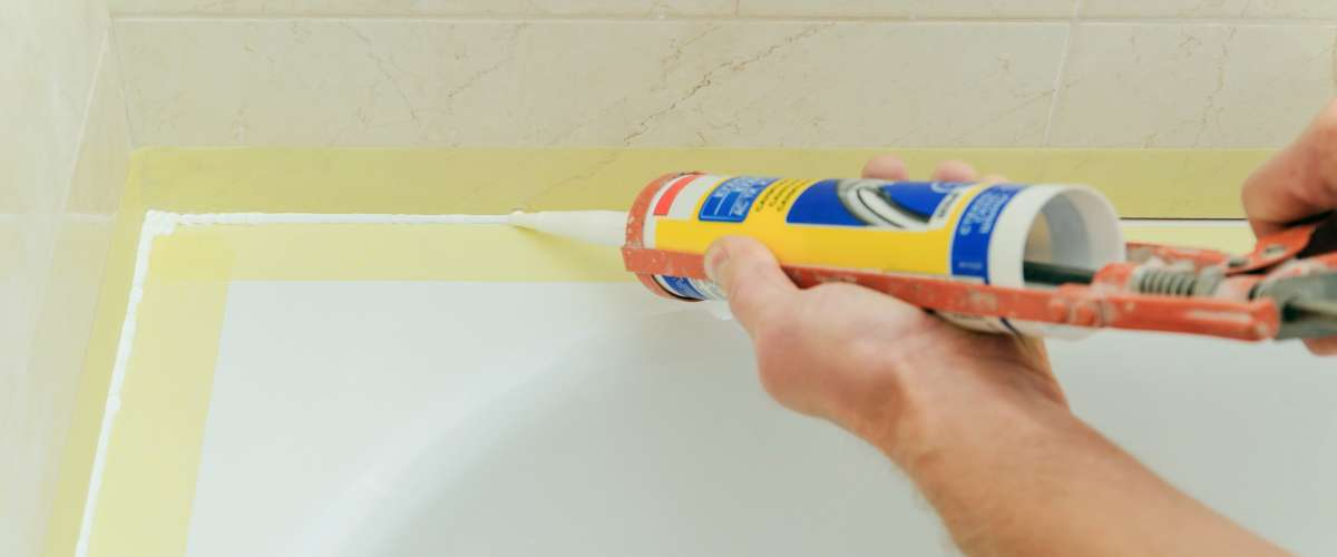 bathtub caulking