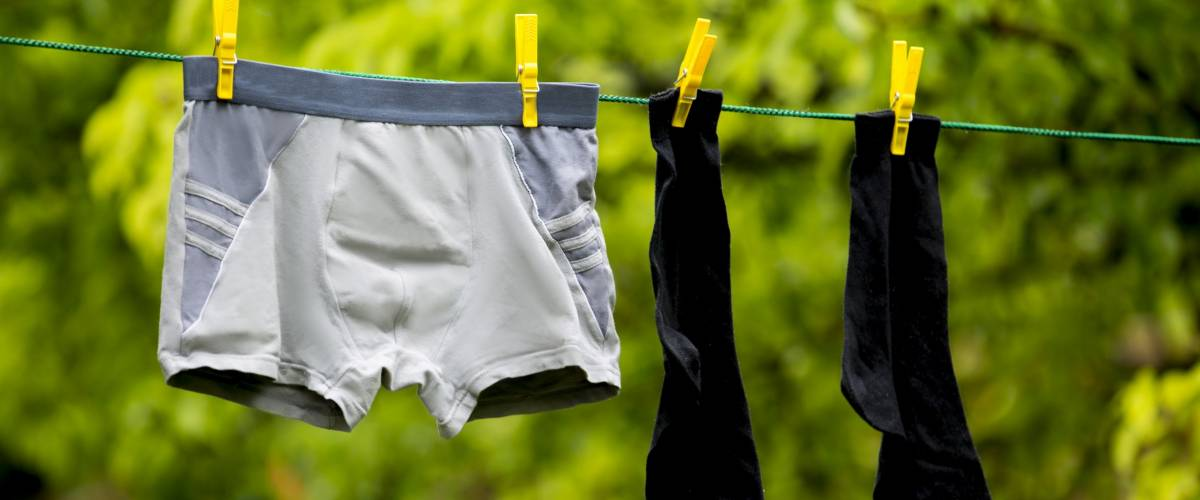 men's underwear drying