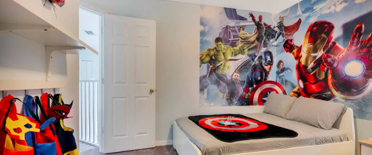 Superheroes bedroom