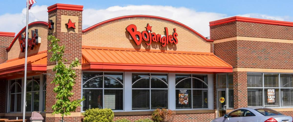 WILSON, NC - MAY 20, 2017: A Bojangle's Chicken 'n Biscuits restaurant in Wilson, NC. Bojangle's is a Southeastern chain of quick service restaurants founded in North Carolina in 1977.