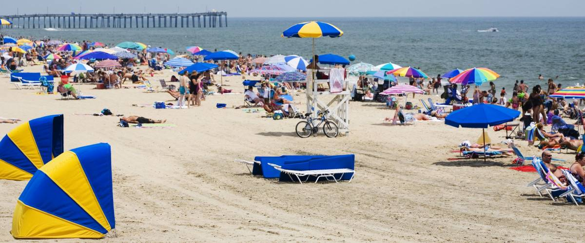 People on vacation in Virginia Beach