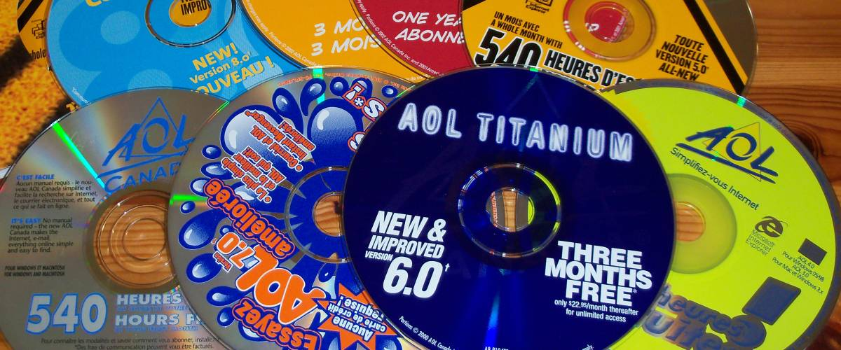 AOL promotional CDs distributed in Canada, in the late 1990s, early 2000s