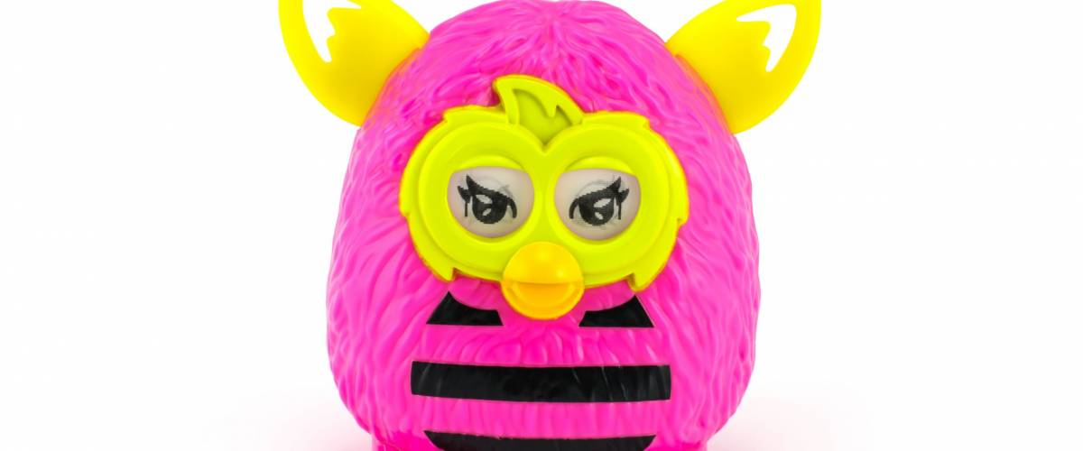 Bangkok,Thailand - May 13 2014: Playful Eyes Furby from Furby Boom collection. There are plastic toy sold as part of the McDonald's Happy meals.