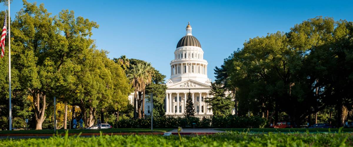 Building of State Capitol in Sacramento California