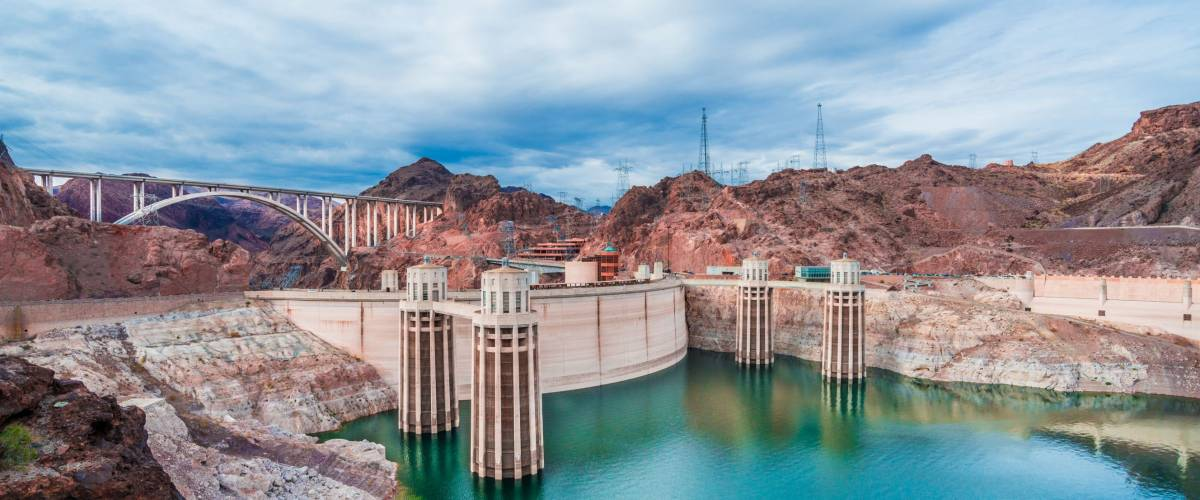 An incredible view of the Hoover Dam in Nevada, USA.