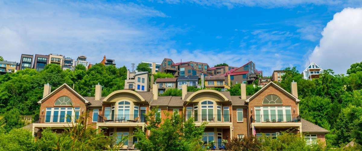 Condos and apartments overlooking the Ohio River in Cincinnati