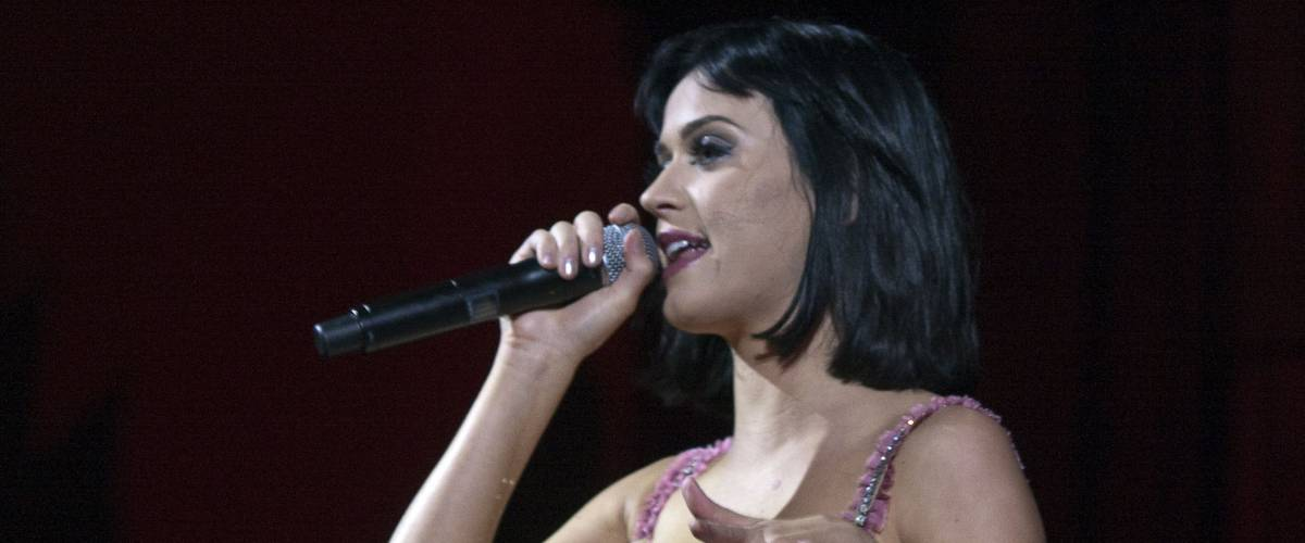 Katy Perry performs at Paramount Studios