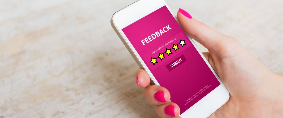 Customer Feedback Form on Mobile Phone