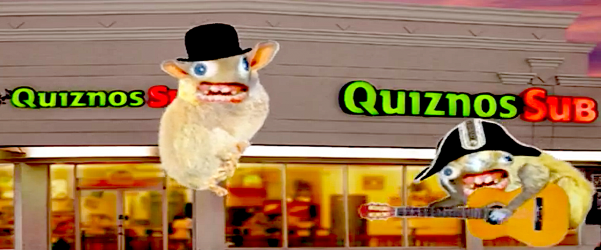 Spongmonkeys in Quizno's commercial