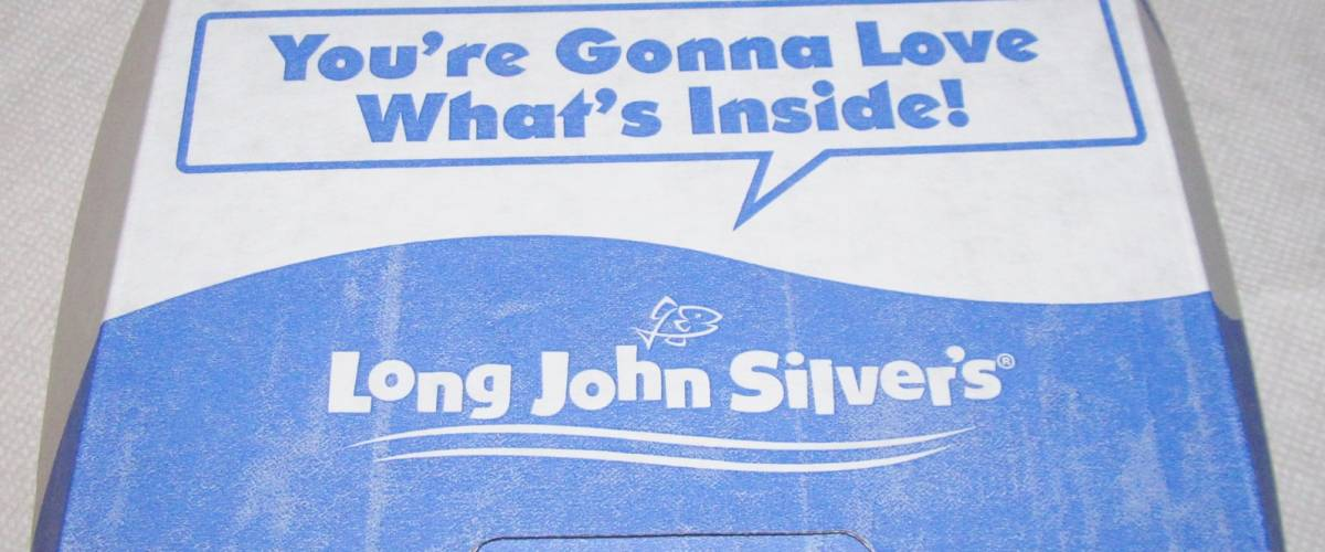 A meal box from Long John Silver's.
