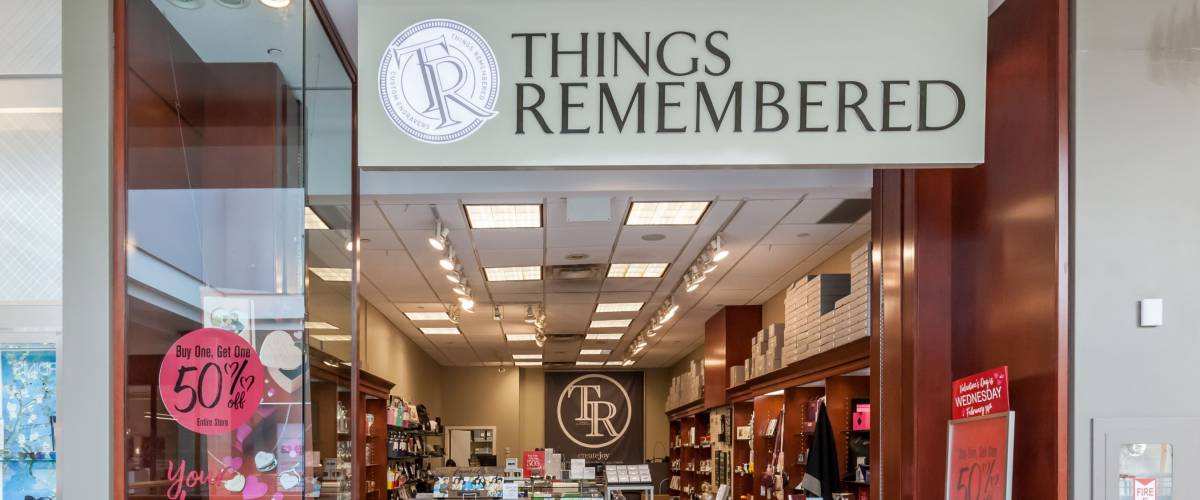 Toronto, Canada - February 7, 2018:  Things Remembered storefront in the Fairview Mall in Toronto, a North America's leading retailer of personalized merchandise and experiences based in USA.