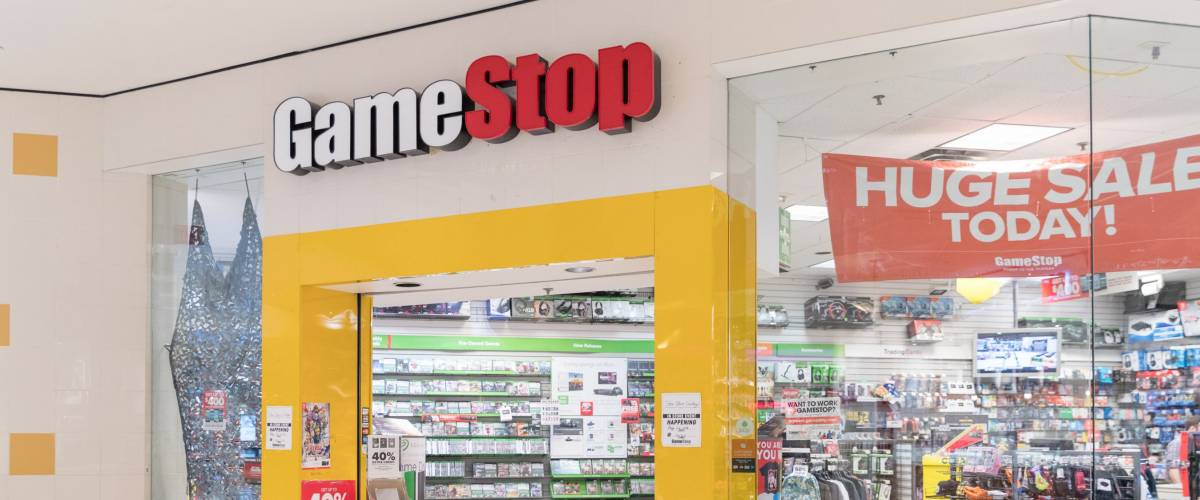 Philadelphia, Pennsylvania, May 21 2018: GameStop Store in USA with people shopping. GameStop is an American video game, consumer electronics and wireless services retailer.