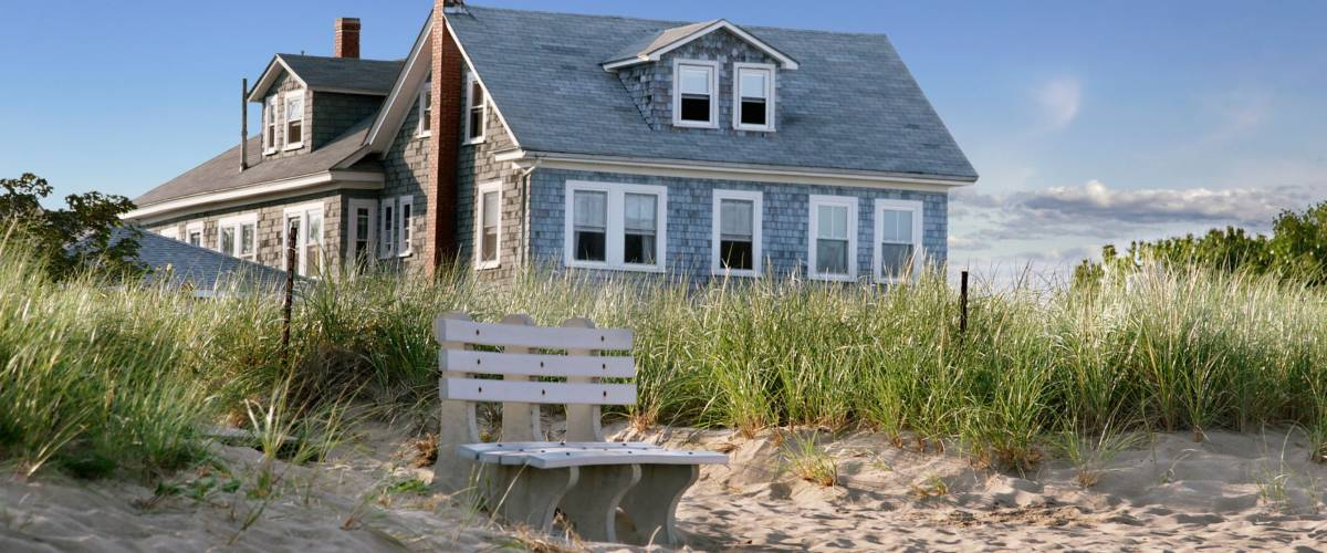 New England beach cottage