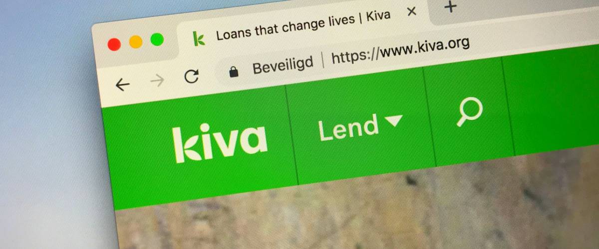 Amsterdam, the Netherlands - September 28, 2018: Website of  Kiva, a international lending platform.