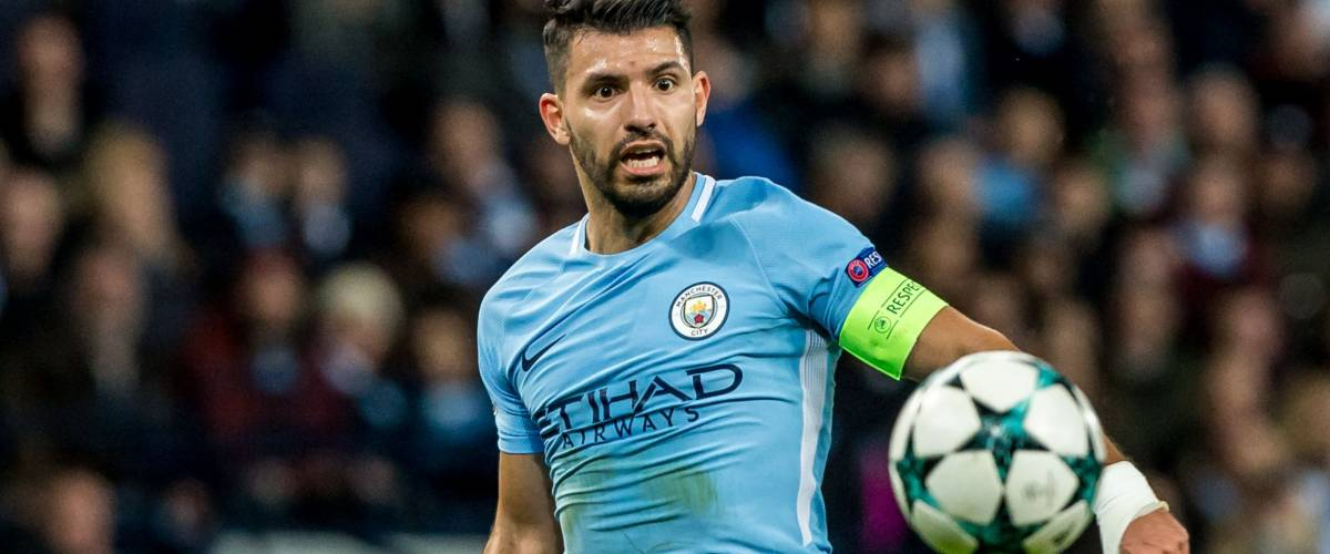 UNITED KINGDOM, MANCHESTER - November 21th 2017: Sergio Aguero During the Champions League match Manchester City - Feyenoord at the Etihad Stadium