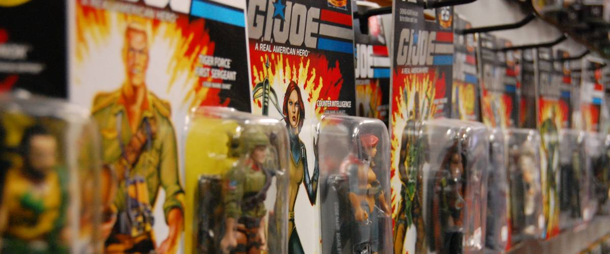 A shot of the GI Joe 25th anniversary section of my local comic shop.