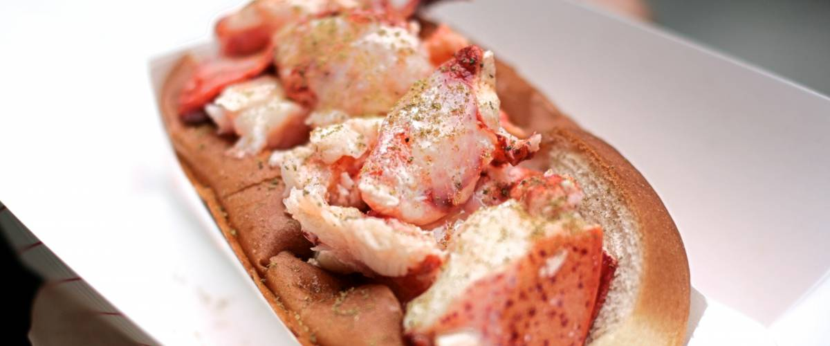 Alexis Lamster lobster roll from luke's in the east village