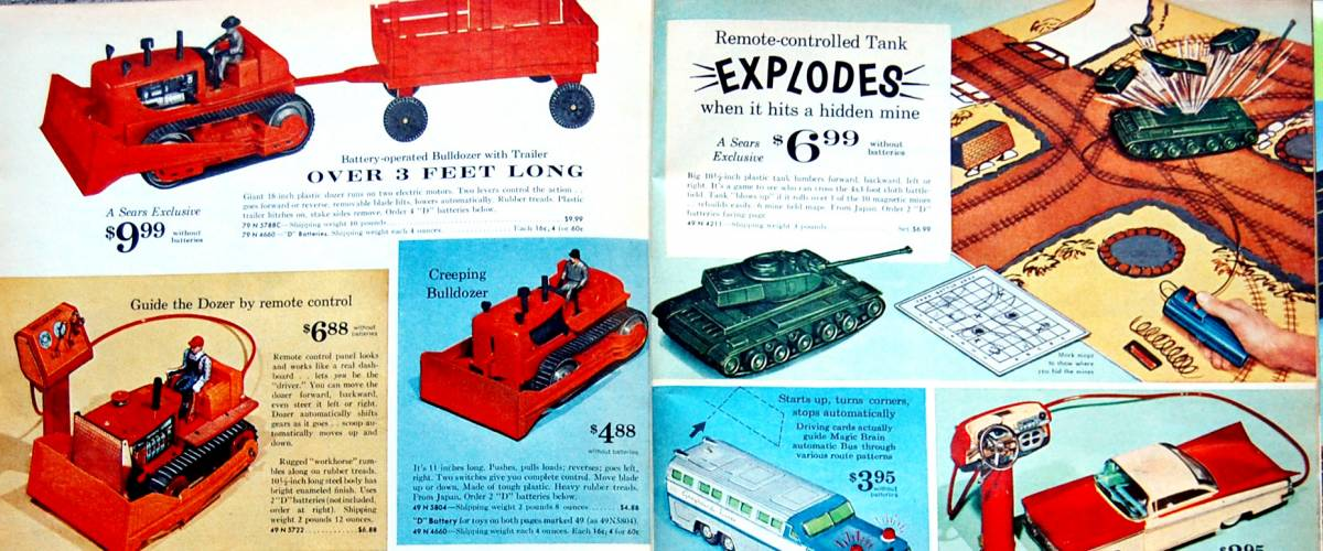Toy Truck. Miscellaneous pages from a 1962 Sears Christmas Book.