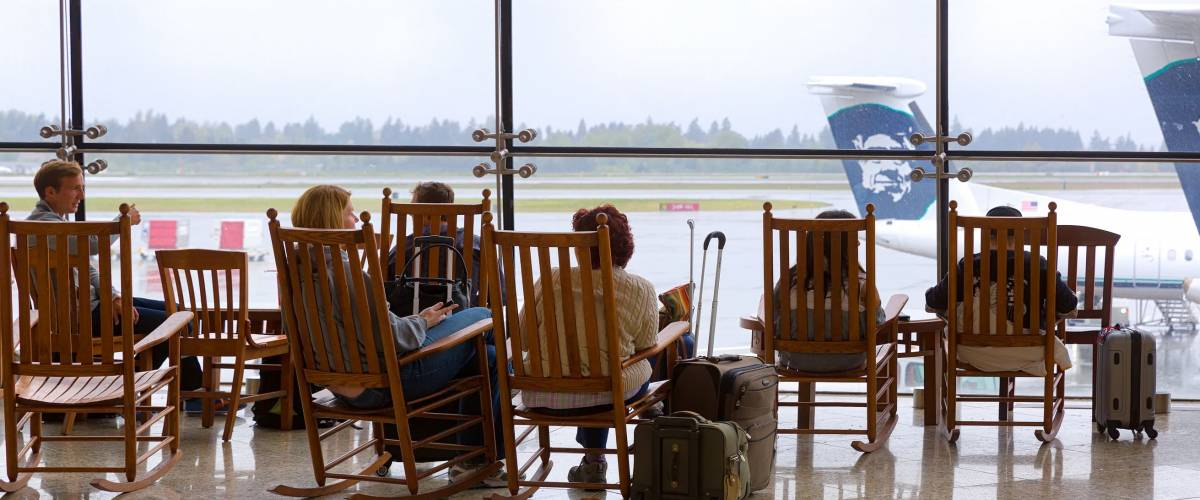 Its rocking chairs are cute, but this airport is too small to handle its air traffic volume