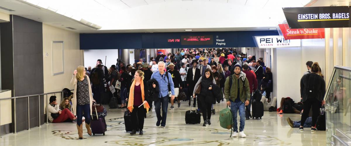 Major foot traffic at Fort Lauderdale's International Airport