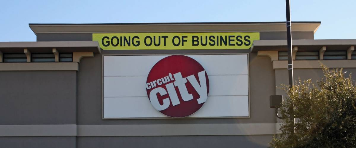 FRISCO - JAN 30: Taken in Frisco, Texas January 30, 2009. Circuit City Electronics declares bankruptcy and closes stores.