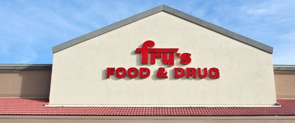 FLAGSTAFF, UNITED STATES - APRIL 4, 2014: Fry's Food and Drug store in Flagstaff. The supermarket chain operates in 119 locations and is part of Kroger company.