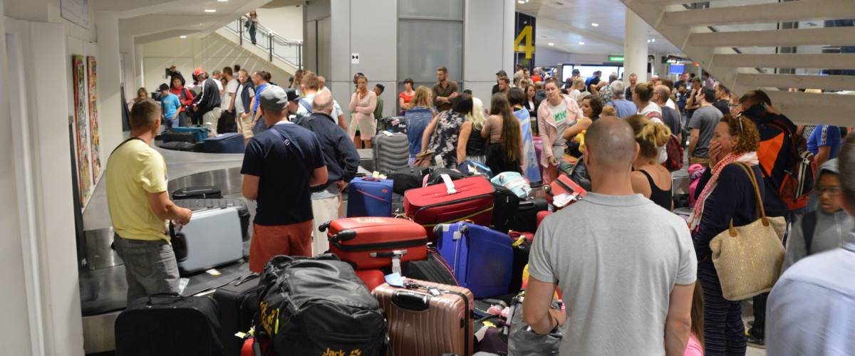 An evacuation caused baggage claim waiting times to exceed 4 hours at Manchester Airport