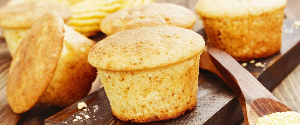 Delicious corn muffins for breakfast.