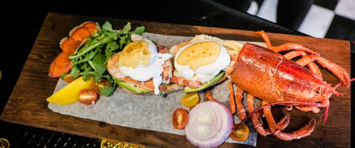 Lobster Benedict with Champagne Vinegar Hollandaise