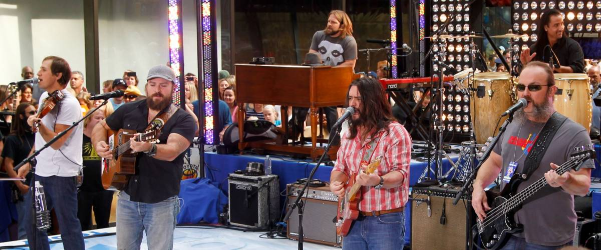 NEW YORK-JULY 13: The Zac Brown Band performs on the Today Show at Rockefeller Plaza on July 13, 2012 in New York City.