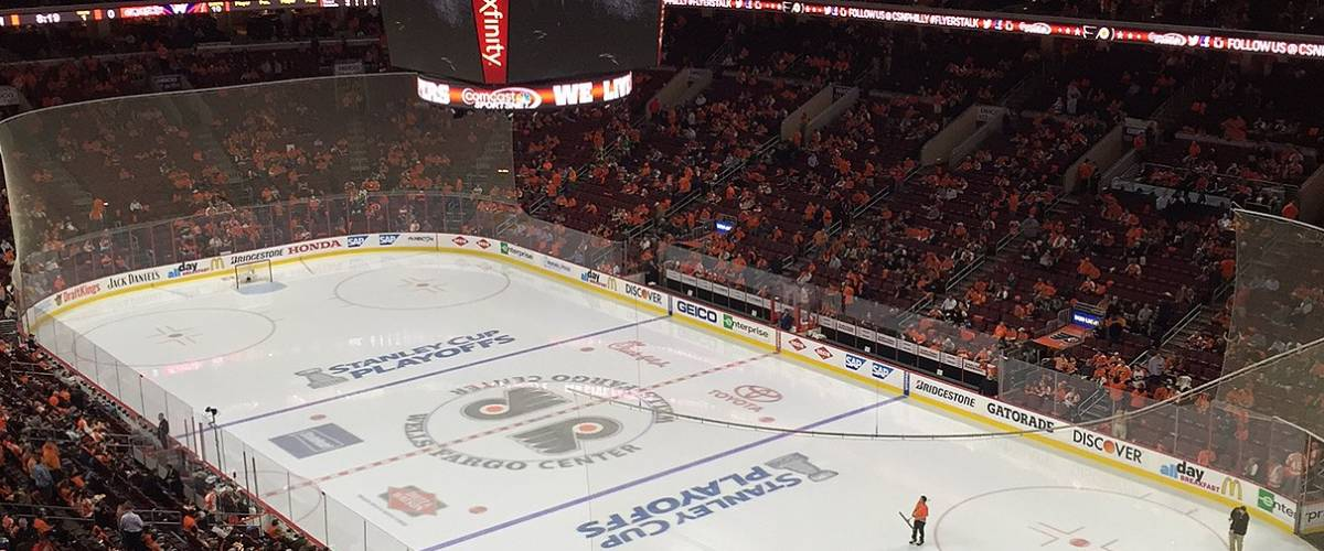 During the first intermission of Game 4 of the Flyers vs. Capitals 2016 Playoffs. Flyers leading 1-0