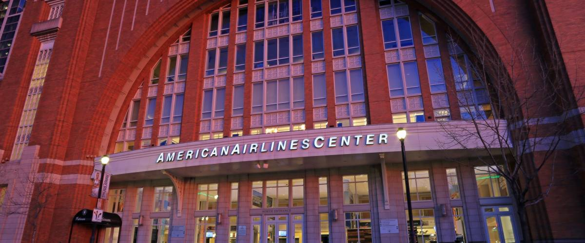 AMERICAN AIRLINES CENTER DALLAS MARCH 2017: The AAC is a multi-purpose arena