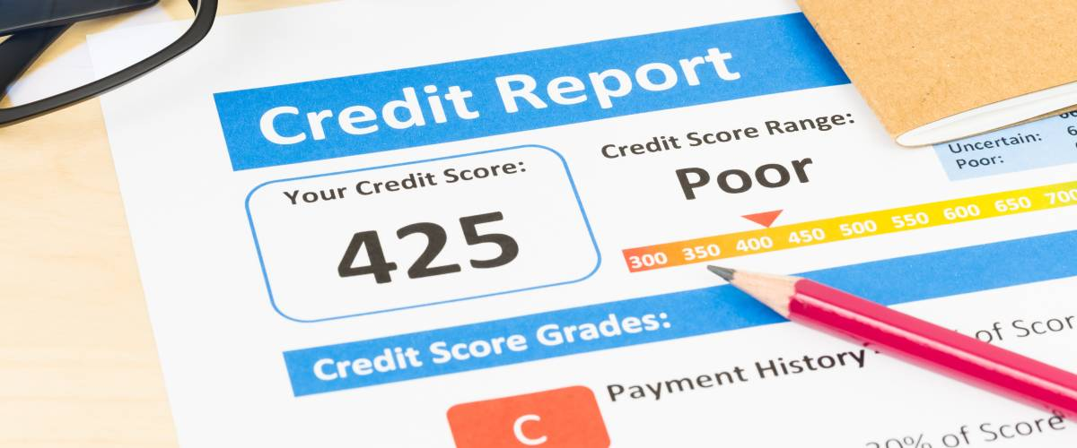 poor credit score report