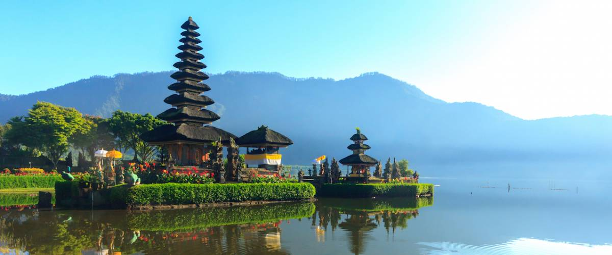 Pura ulun danu bratan temple the travel destination in Bali, Indonesia