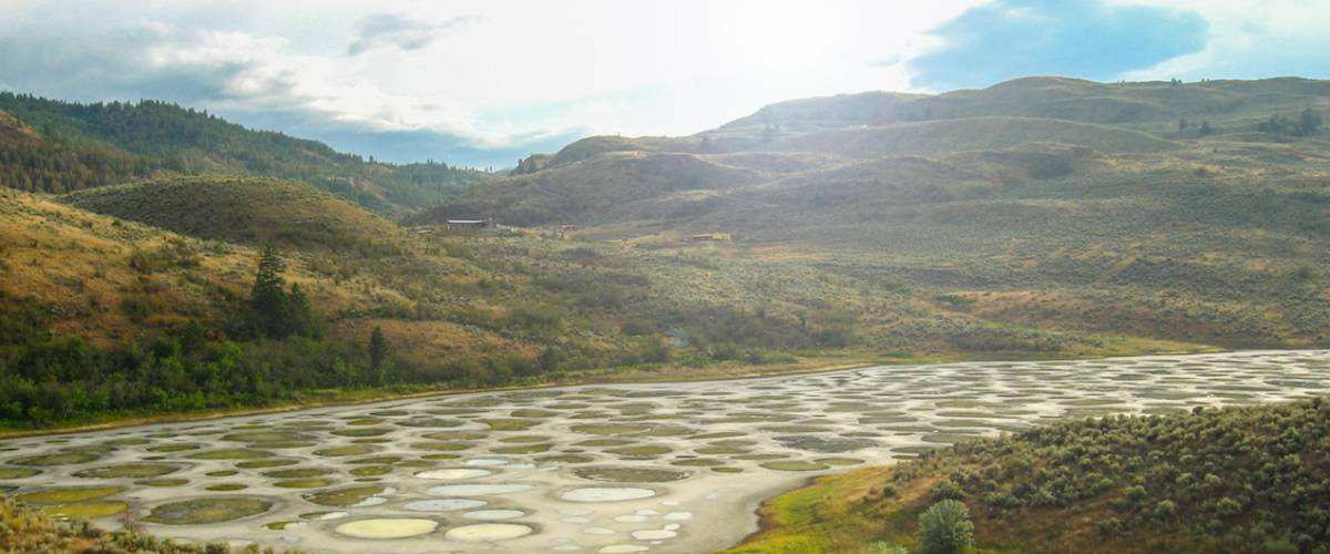 Spotted Lake in Okanagan valley