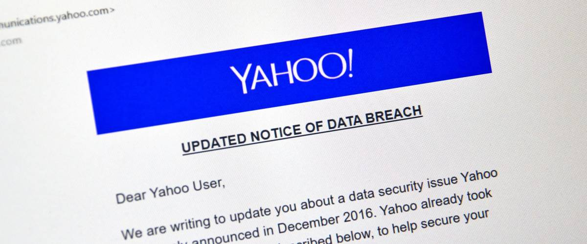 Yahoo's updated notice of its data breach, 2017
